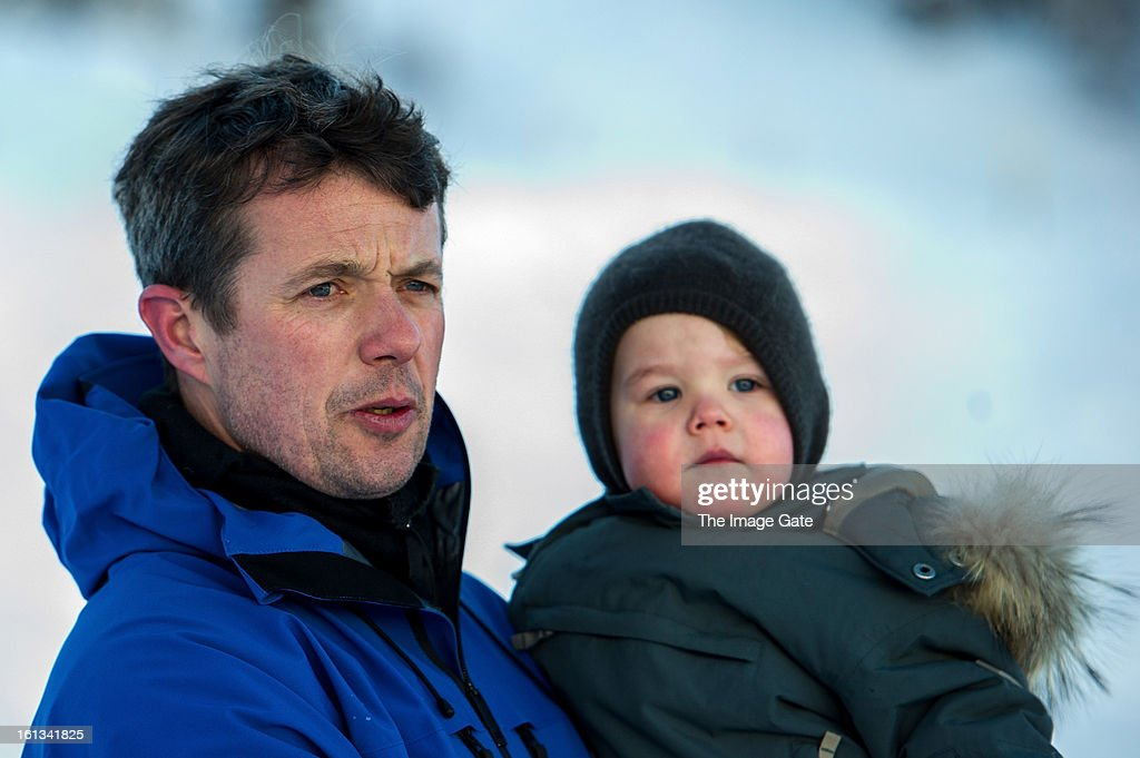 Crown <a gi-track='captionPersonalityLinkClicked' href=/galleries/search?phrase=Prince+Frederik+of+Denmark&family=editorial&specificpeople=171286 ng-click='$event.stopPropagation()'>Prince Frederik of Denmark</a> and <a gi-track='captionPersonalityLinkClicked' href=/galleries/search?phrase=Prince+Vincent+of+Denmark&family=editorial&specificpeople=8900376 ng-click='$event.stopPropagation()'>Prince Vincent of Denmark</a> meet the press, whilst on skiing holiday on February 10, 2013 in Verbier, Switzerland.