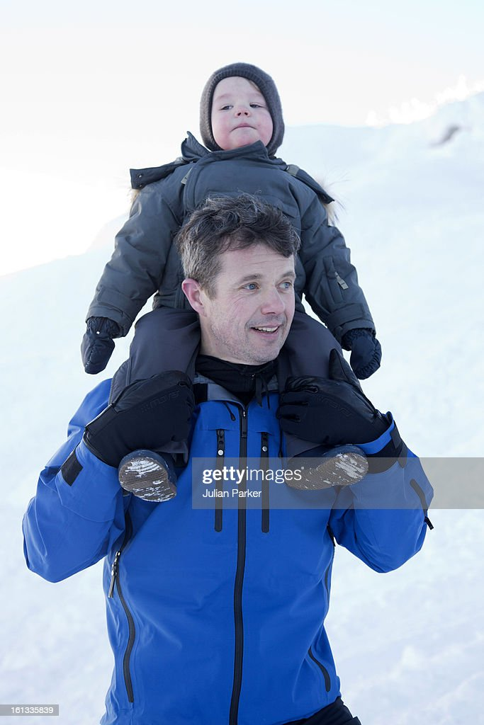 Crown <a gi-track='captionPersonalityLinkClicked' href=/galleries/search?phrase=Prince+Frederik+of+Denmark&family=editorial&specificpeople=171286 ng-click='$event.stopPropagation()'>Prince Frederik of Denmark</a> and <a gi-track='captionPersonalityLinkClicked' href=/galleries/search?phrase=Prince+Vincent+of+Denmark&family=editorial&specificpeople=8900376 ng-click='$event.stopPropagation()'>Prince Vincent of Denmark</a> pose for photographs on their annual skiing holiday on February 10, 2013 in Verbier, Switzerland.
