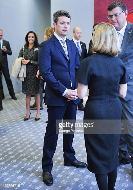 Crown Prince Frederik of Denmark attends official visit to Canada Day 3 at The Hudson's Bay on September 19 2014 in Toronto Canada