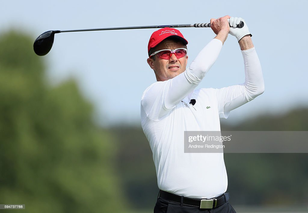 crown-prince-frederik-of-denmark-hits-his-teeshot-on-the-first-hole-picture-id594737788