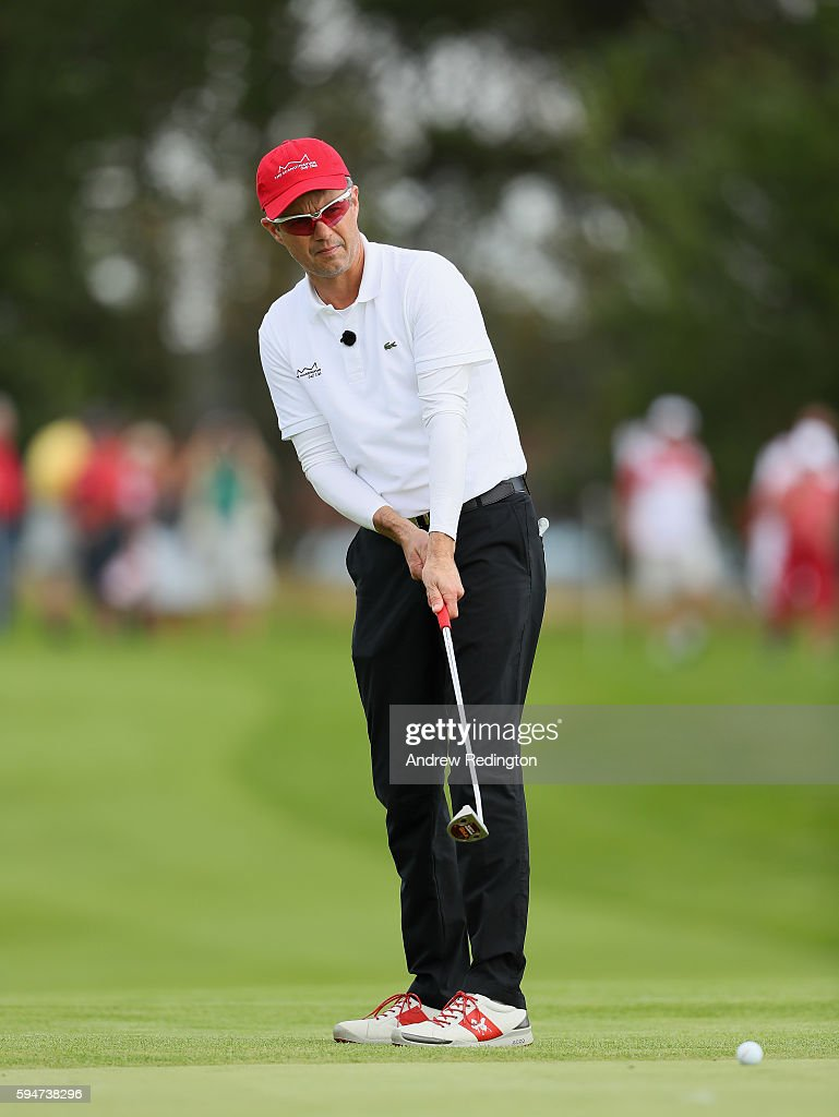 crown-prince-frederik-of-denmark-in-action-on-the-first-hole-during-picture-id594738296