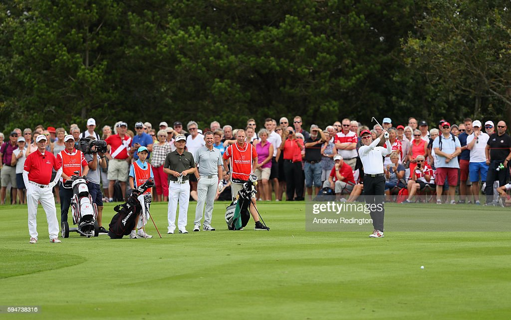 crown-prince-frederik-of-denmark-in-action-on-the-first-hole-during-picture-id594738316