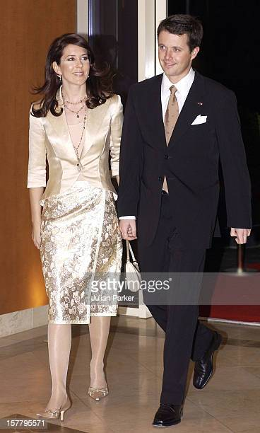 Crown Prince Frederik Of Denmark Mary Donaldson Attend A Return Arrangement At The Marriott Hotel In Copenhagen During The State Visit Of HE Mr Ion...