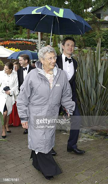 Crown Prince Frederik Of Denmark Princess Astrid Of Norway Attend Queen Sonja Of Norway'S 70Th Birthday CelebrationsDinner At 'Flor Og Fjaere' On The...
