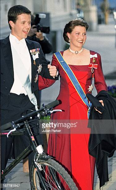 Crown Prince Frederik Of Denmark Princess Martha Louise Of Norway Attend A Performance Of The Dramatic Theatre During The Celebration For King Carl...