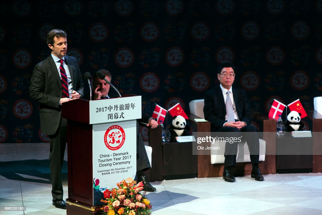 Crown Prince Frederik Of Denmark Participates In Closing Ceremony For The Danish-Chinese Tourist Year