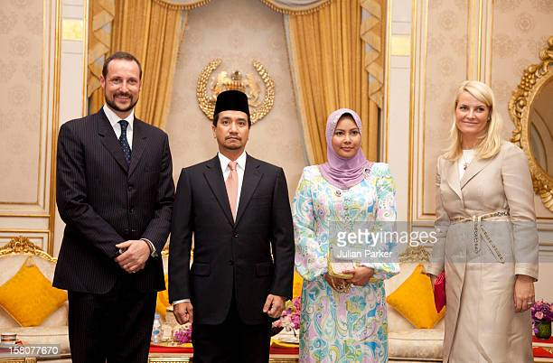 Crown Prince Haakon And Crown Princess Mette Marit Of Norway Attend An Audience With The King His Majesty Tuanku Mizan Zainal Abidin And The Queen Of...