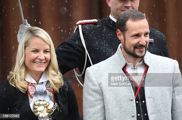 Crown Prince Haakon And Crown Princess MetteMarit Attend The Norway National Day Celebrations In Skaugum