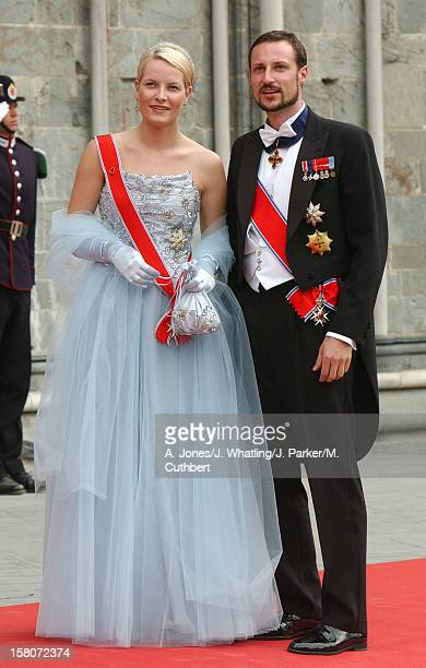 Crown Prince Haakon And Crown Princess MetteMarit Of Norway At The Wedding Of Princess Martha Louise Of Norway And Ari Behn In Trondheim