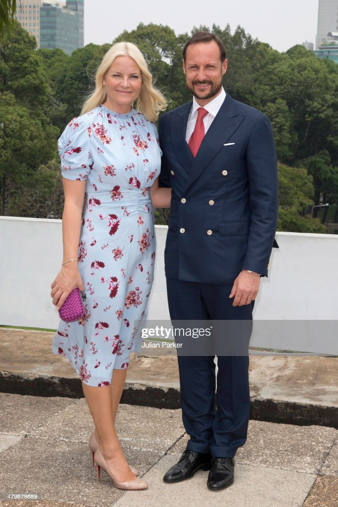 Crown Prince Haakon and <a gi-track='captionPersonalityLinkClicked' href=/galleries/search?phrase=Crown+Princess+Mette-Marit&family=editorial&specificpeople=171288 ng-click='$event.stopPropagation()'>Crown Princess Mette-Marit</a> of Norway attend a Lunch at The Reunification Palace during day 3 of an official visit to Vietnam on March 21, 2014 in Ho Chi Minh City, Vietnam.