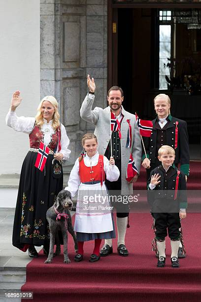 Crown Prince Haakon and Crown Princess MetteMarit of Norway with there children Princess Ingrid Alexandra and Prince Sverre Magnus and Mette's son...