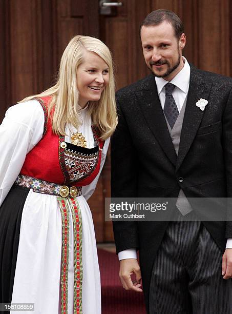Crown Prince Haakon Crown Princess MetteMarit Attend The Norway National Day Celebrations In Skaugum