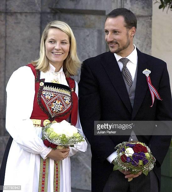 Crown Prince Haakon Crown Princess MetteMarit Of Norway Celebrate Norwegian National Day In Oslo