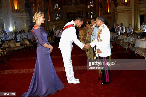 Crown Prince Haakon Crown Princess MetteMarit Of Norway Foreign Monarchs Express Their Best Wishes To His Majesty At The Anda Samakhom Throne Hall...
