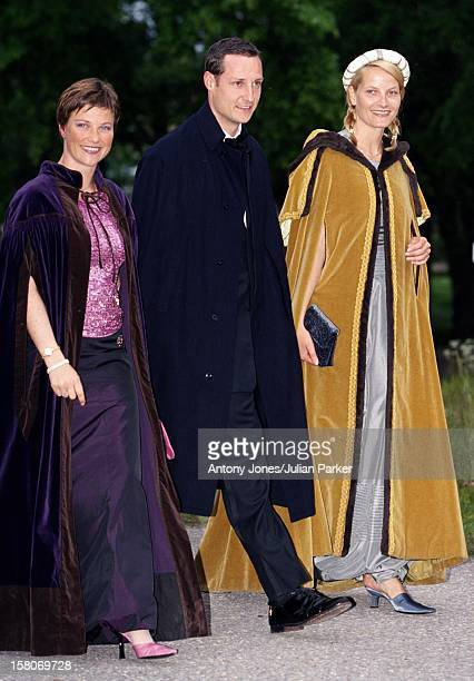 Crown Prince Haakon Crown Princess MetteMarit Princess Martha Louise Of Norway Attend A Performance At Gripsholm Castle During The Celebrations For...
