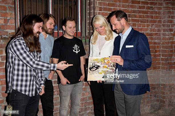 Crown Prince Haakon of Norway and Crown Princess MetteMarit of Norway attend a concert given by the Norwegian band ' Kvelertak ' at Slim's Music Club...