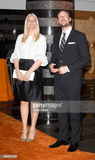 Crown Prince Haakon of Norway and Crown Princess MetteMarit of Norway attend a reception at SF MOMA The San Francisco Musuem of Modern Art during day...