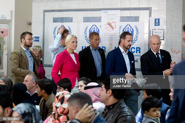 Crown Prince Haakon of Norway and Crown Princess MetteMarit of Norway on the second day of their visit to Jordan Visit the UNHCR Refugee Registration...