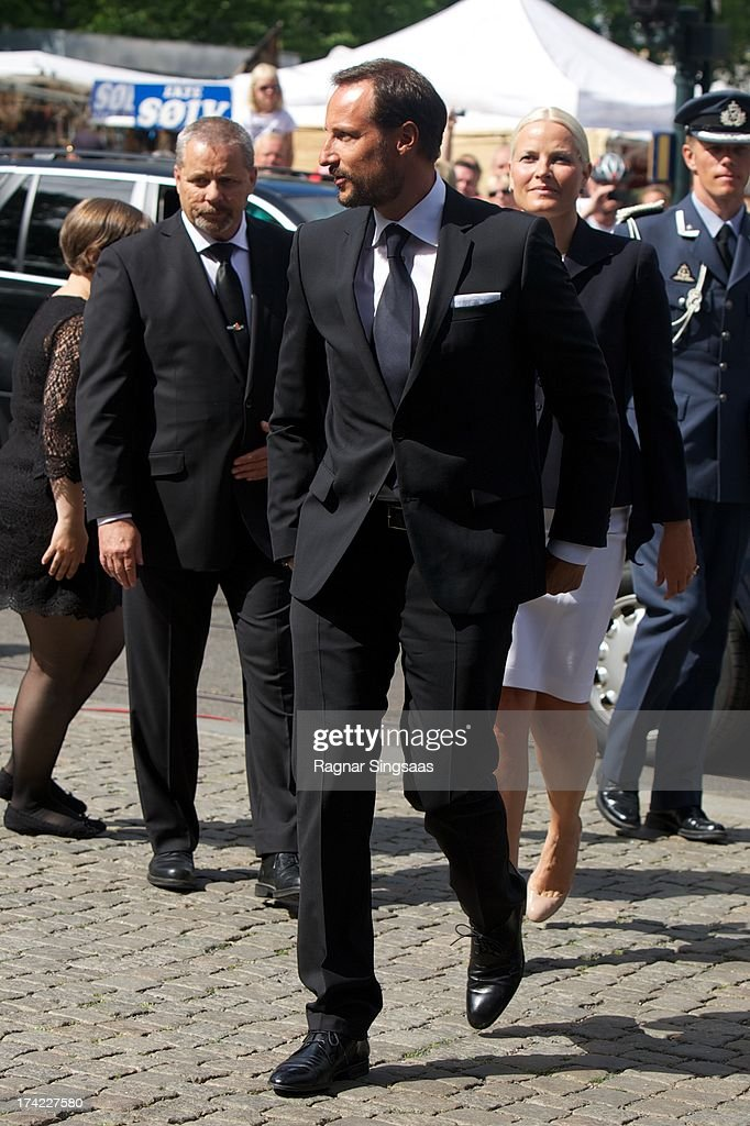 Crown Prince Haakon of Norway attends a memorial service for the victims of the 2011 terrorist attacks on July 22, 2013 in Oslo, Norway.
