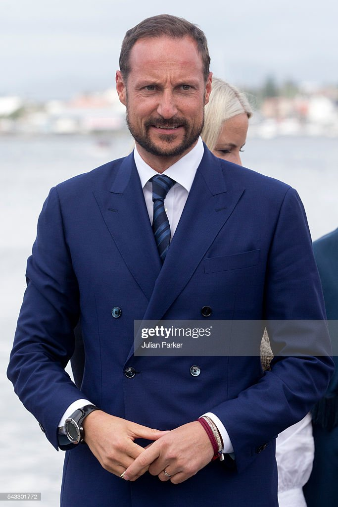 <a gi-track='captionPersonalityLinkClicked' href=/galleries/search?phrase=Crown+Prince+Haakon+of+Norway&family=editorial&specificpeople=158362 ng-click='$event.stopPropagation()'>Crown Prince Haakon of Norway</a>, on a visit to Stavanger, during the King and Queen of Norway's Silver Jubilee Tour, on June 27, 2016 in Stavanger, Norway.