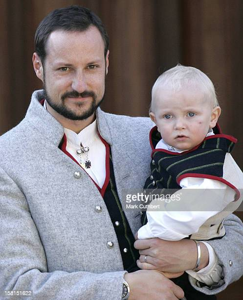 Crown Prince Haakon Prince Sverre Magnus Attend The Norway National Day Celebrations In Skaugum