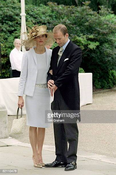 Crown Prince Kyril Of Bulgaria And His Wife Rosario At The Wedding Reception For Princess Alexia And Carlos Quintana At Kenwood House London