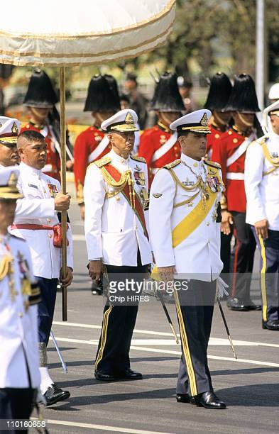 Crown Prince Maha Vajiralongkorn in the funeral ceremony of the Princess Mother in Bangkok Thailand on Mars 10 1996