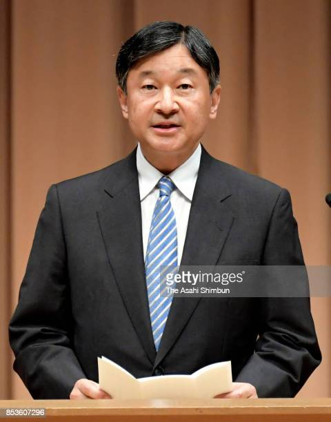 Crown Prince Naruhito addresses during the 'Big Brothers and Sisters Movement' 70th Anniversary Ceremony on September 23 2017 in Tokyo Japan