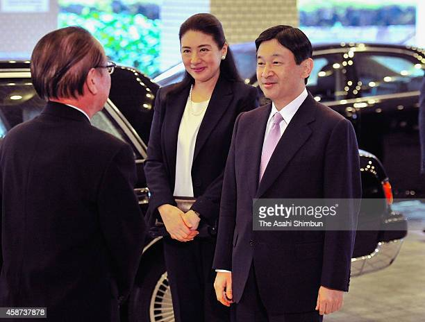 Crown Prince Naruhito and Crown Princess Masako are seen upon arrival at a Nagoya hotel to attend the UNESCO World Conference on Education for...