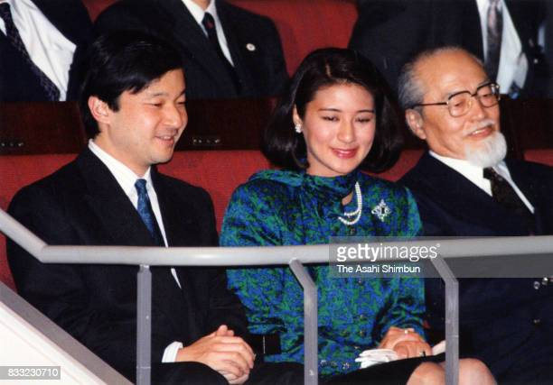 Crown Prince Naruhito and Crown Princess Masako attend a ballet performance at Orchard Hall on May 4 1994 in Tokyo Japan