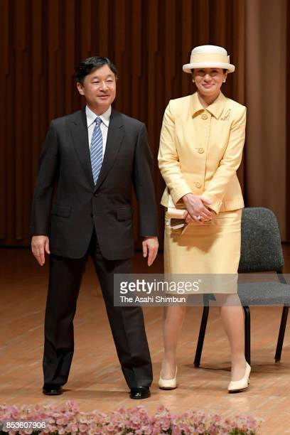 Crown Prince Naruhito and Crown Princess Masako attend during the 'Big Brothers and Sisters Movement' 70th Anniversary Ceremony on September 23 2017...