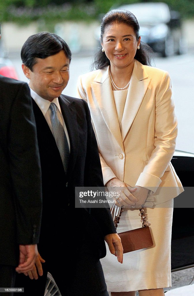<a gi-track='captionPersonalityLinkClicked' href=/galleries/search?phrase=Crown+Prince+Naruhito&family=editorial&specificpeople=158365 ng-click='$event.stopPropagation()'>Crown Prince Naruhito</a> and <a gi-track='captionPersonalityLinkClicked' href=/galleries/search?phrase=Crown+Princess+Masako&family=editorial&specificpeople=580174 ng-click='$event.stopPropagation()'>Crown Princess Masako</a> attend the 20th anniversary ceremony of the International Youth Exchange on September 26, 2013 in Tokyo, Japan. The program started to celebrate their marrige in 1994.