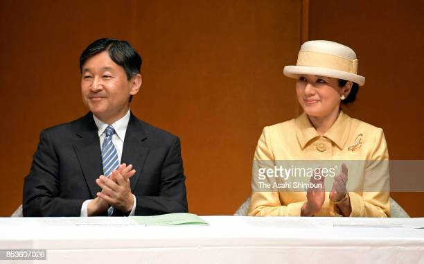 Crown Prince Naruhito and Crown Princess Masako attend the 'Big Brothers and Sisters Movement' 70th Anniversary Ceremony on September 23 2017 in...