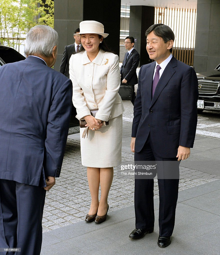 <a gi-track='captionPersonalityLinkClicked' href=/galleries/search?phrase=Crown+Prince+Naruhito&family=editorial&specificpeople=158365 ng-click='$event.stopPropagation()'>Crown Prince Naruhito</a> and <a gi-track='captionPersonalityLinkClicked' href=/galleries/search?phrase=Crown+Princess+Masako&family=editorial&specificpeople=580174 ng-click='$event.stopPropagation()'>Crown Princess Masako</a> attend the opening ceremony of the Global Environment Action conference on October 18, 2013 in Tokyo, Japan.