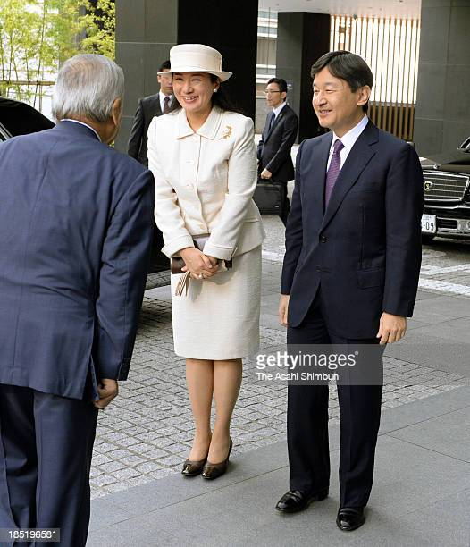 Crown Prince Naruhito and Crown Princess Masako attend the opening ceremony of the Global Environment Action conference on October 18 2013 in Tokyo...