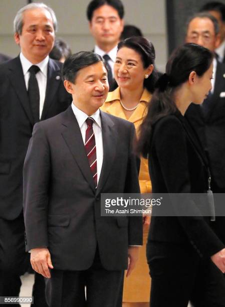 Crown Prince Naruhito and Crown Princess Masako attend the opening ceremony of the Science and Technology in Society forum on October 3 2017 in Kyoto...