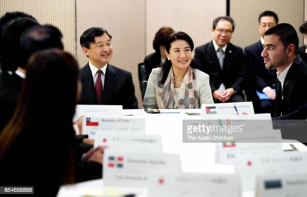 Crown Prince Naruhito and Crown Princess Masako attend the International Youth Conference on September 27 2017 in Tokyo Japan