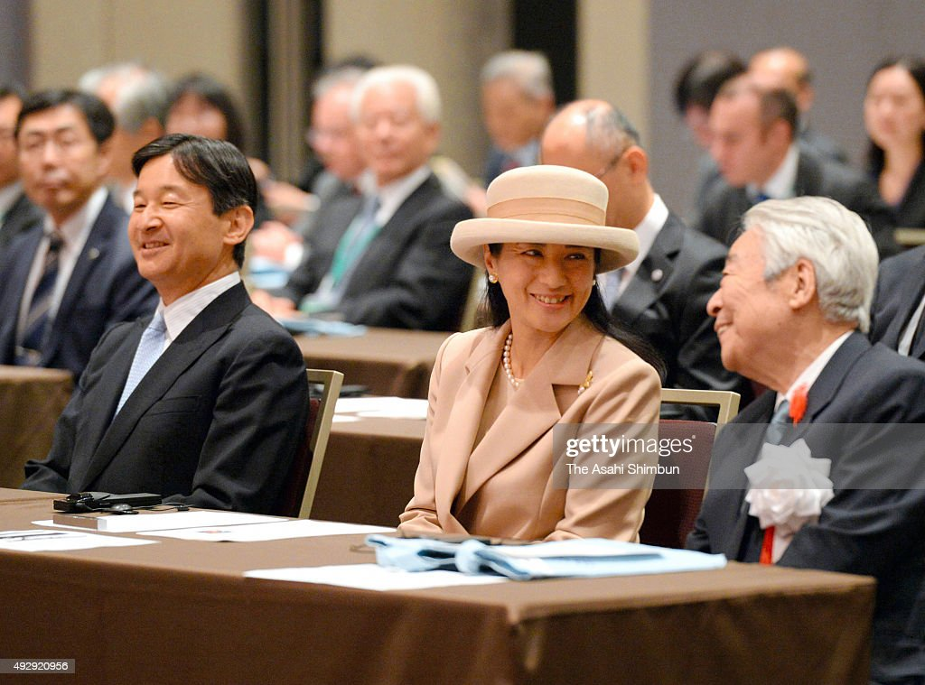 Crown Prince Naruhito and Crown Princess Masako attends the Gobal Environmental Action (GEA) International Conference at the Capitol Tokyu Hotel on October 15, 2015 in Tokyo, Japan.