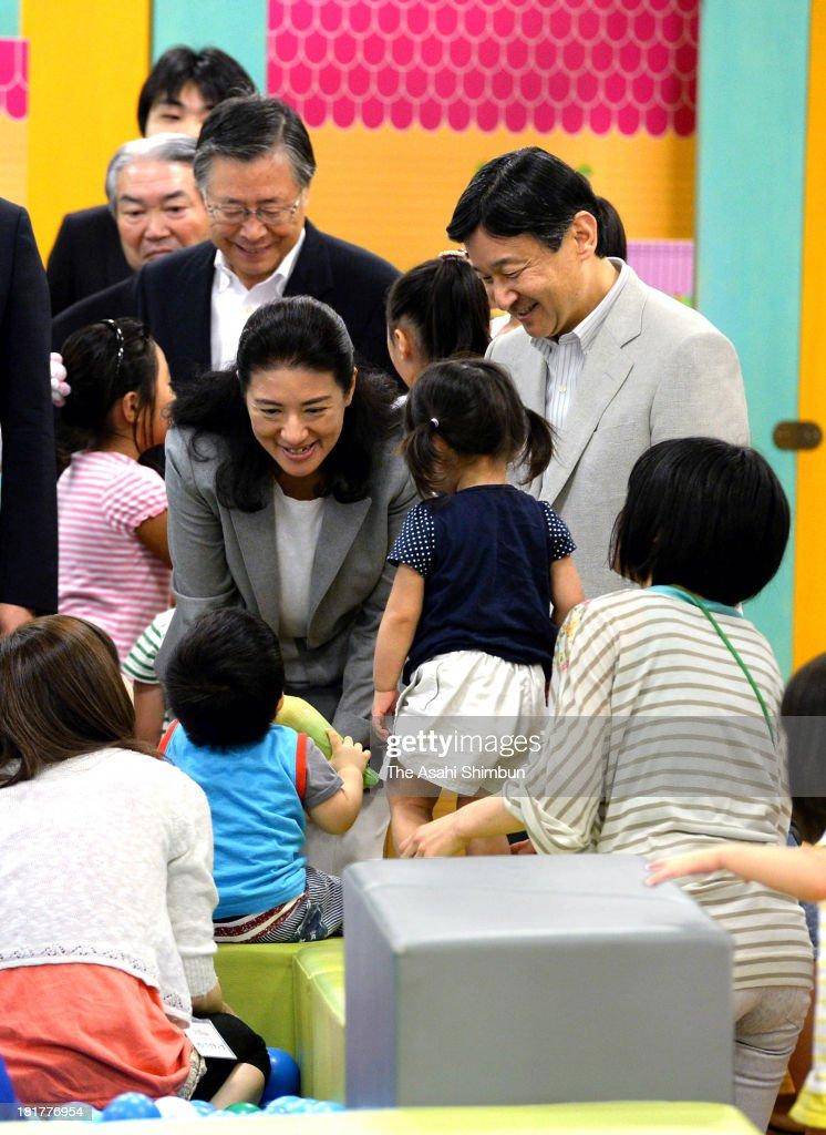 Crown Prince Naruhito and Crown Princess Masako Visit Fukushima
