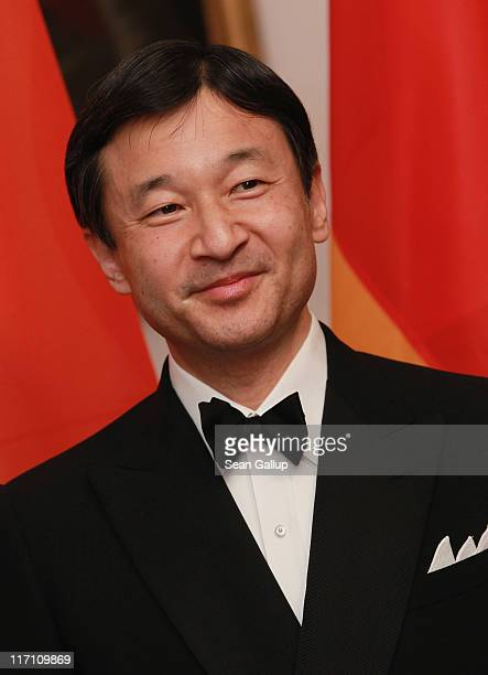 H Crown Prince Naruhito of Japan attends a dinner given in his honour by German President Christian Wulff at Bellevue Palace on June 22 2011 in...