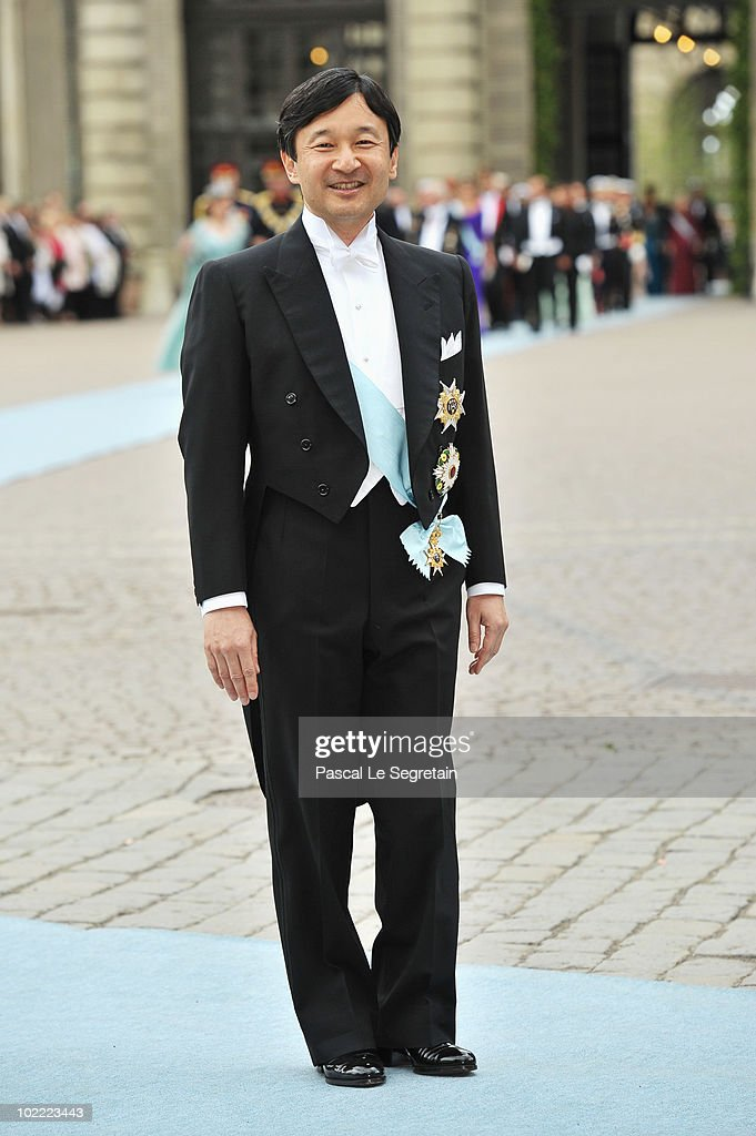 Crown Prince Naruhito of Japan attends the Wedding of Crown Princess Victoria of Sweden and Daniel Westling on June 19, 2010 in Stockholm, Sweden.