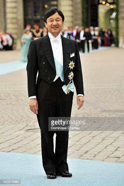 Crown Prince Naruhito of Japan attends the Wedding of Crown Princess Victoria of Sweden and Daniel Westling on June 19 2010 in Stockholm Sweden