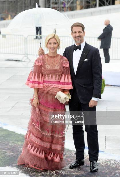 Crown Prince Pavlos and Crown Princess Marie Chantal of Greece are seen arriving at the Opera House on the occasion of the celebration of King Harald...