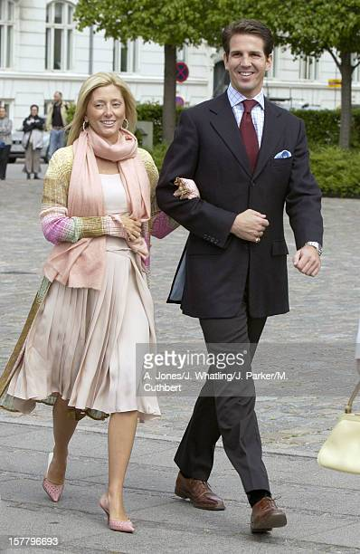 Crown Prince Pavlos Crown Princess Marie Chantal Of Greece Attend A Luncheon Onboard The Royal Yacht In Copenhagen Before The Wedding Of Crown Prince...