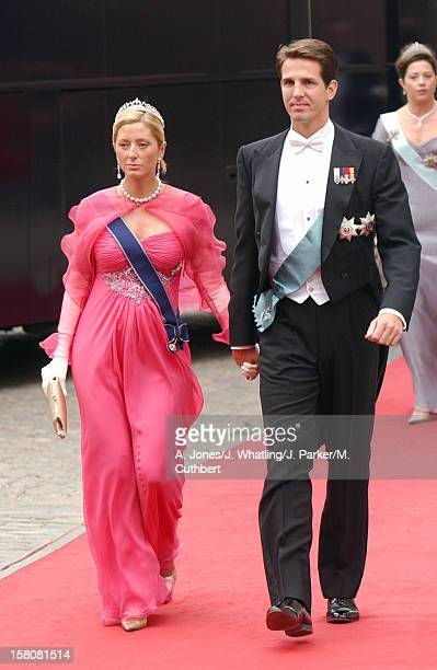 Crown Prince Pavlos Crown Princess Marie Chantal Of Greece Attend The Wedding Of Crown Prince Frederik Mary Donaldson At The Vor Frue Kirke Catherdal...
