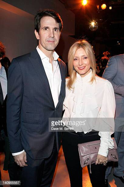 Crown Prince Pavlos of Greece and Crown Princess Marie Chantal of Greece attend the London Philippine Fashion Show at Victoria House on March 8 2012...