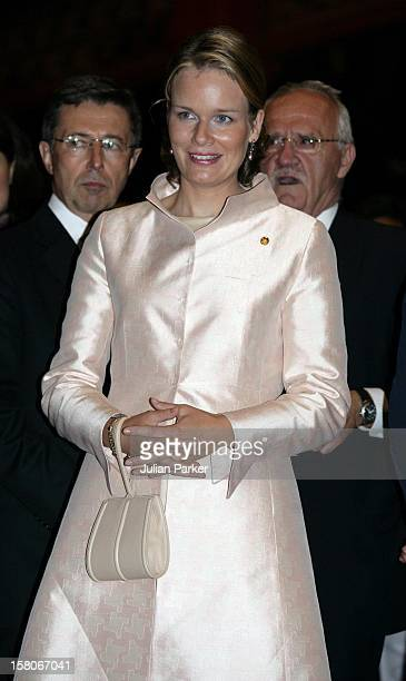 Crown Prince Philippe Crown Princess Mathilde Of Belgium Attend The Royal Barge Procession At The Royal Navy Club During The Celebrations To Mark The...