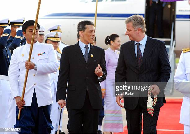 Crown Prince Philippe Of Belgium Arrives At Don Muang Airport To Attend The Celebrations To Mark The 60Th Anniversary Of Thai King Bhumibol...