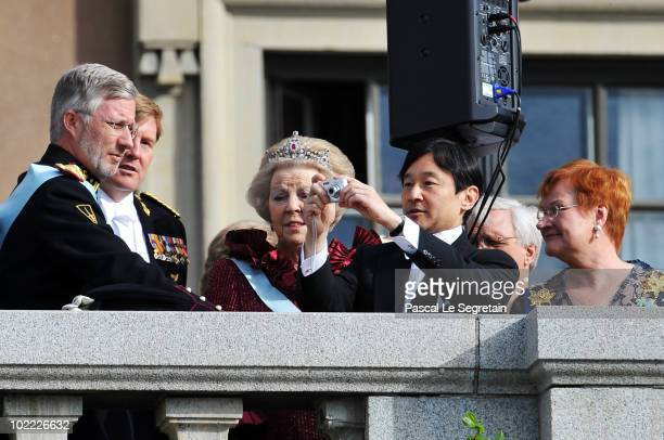 Crown Prince Philippe of Belgium Crown Prince WillemAlexander of the Netherlands Queen Beatrix of the Netherlands and Crown Prince Naruhito of Japan...