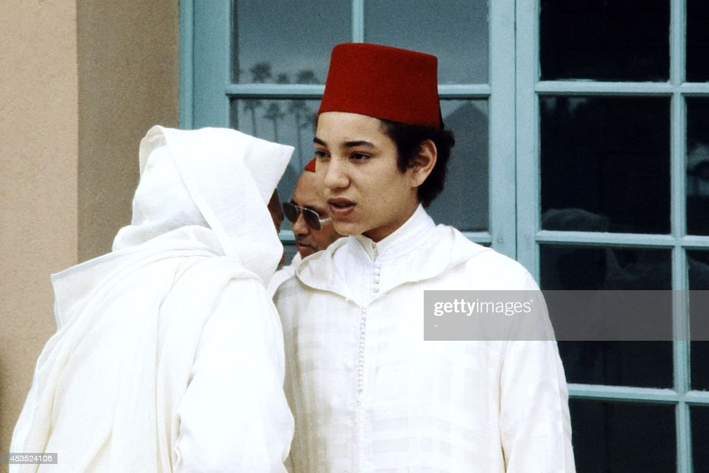 Crown Prince Sidi Mohammed attends the Throne Day ceremony in Marrakech on March 3 1970 to mark the 19th anniversary of King Hassan II accession to...